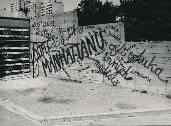 Wall in front of Manhatten by Jozef Robakowski